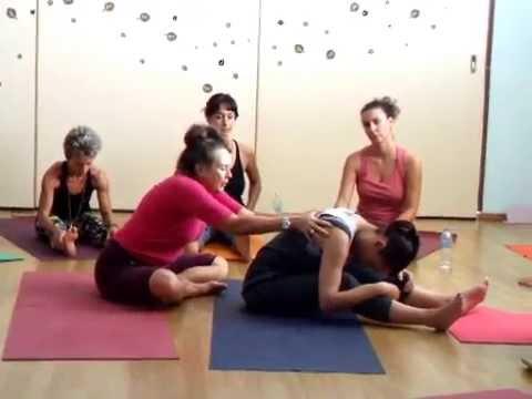 Diane Long teaching yoga in Athens 2016, part 1