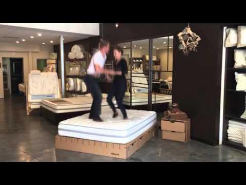 Bedigami Cardboard Bedroom Bed Jump Test