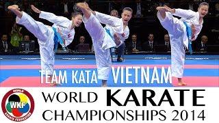 Team Kata VIETNAM. Kata Paiku. 2014 World Karate Championships.