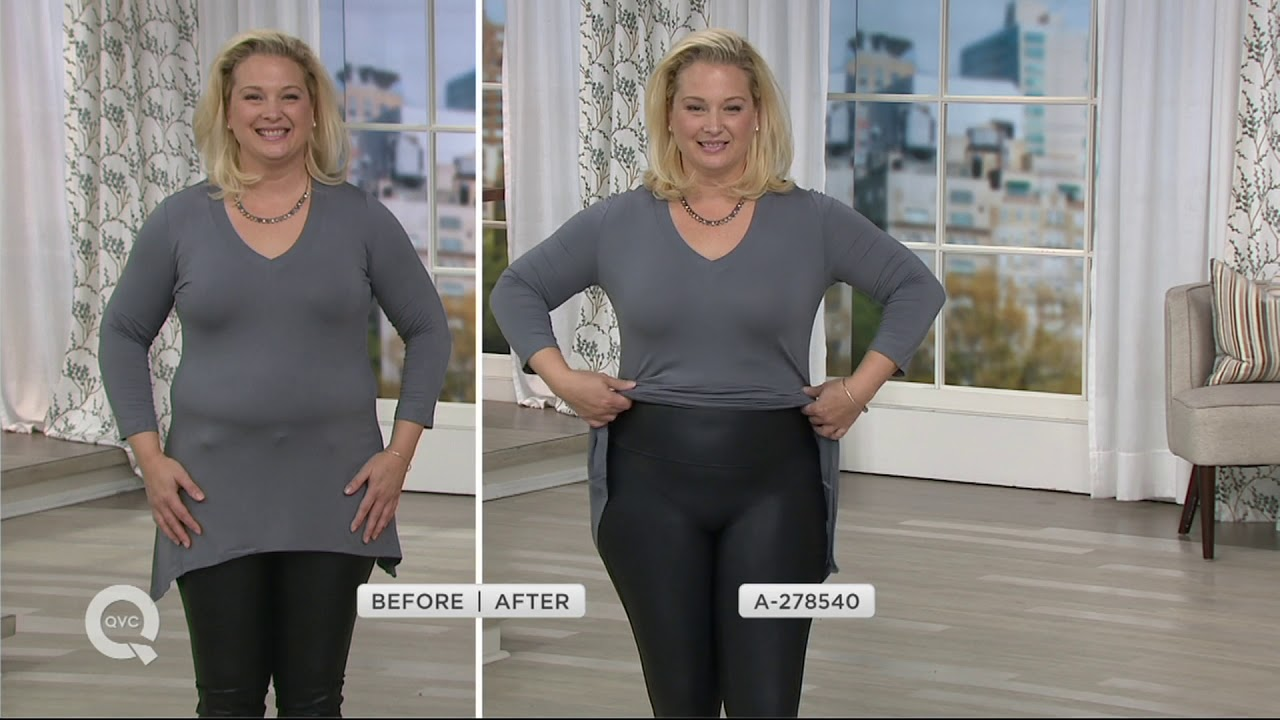 f887bd76b9705 Spanx Faux Leather Leggings on QVC - YouTube