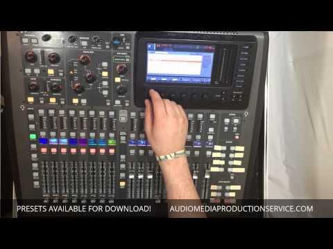 Midas M32 / Behringer X32 - Downloadable Presets
