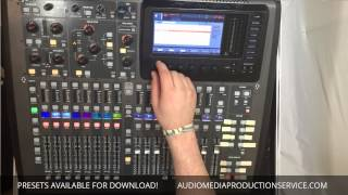 Midas M32 / Behringer X32 - Downloadable Presets