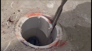 PVC Toilet Flange Removal - How to Remove Glued in Flange