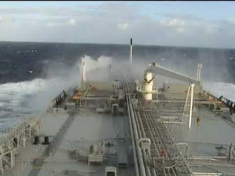 ship sailing in bad weather in indian ocean