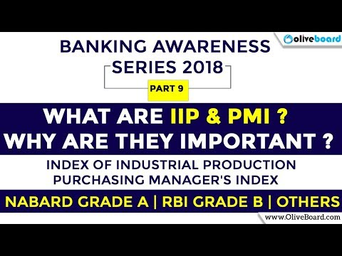 Index of Industrial Production | PMI | Banking Awareness 2018