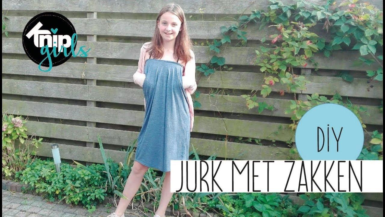 Ongebruikt DIY jurkje met zakken   KNIPgirl Rachel - YouTube HD-62