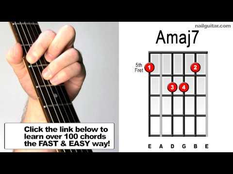 How To Play Amaj7 Guitar Chord Tutorial