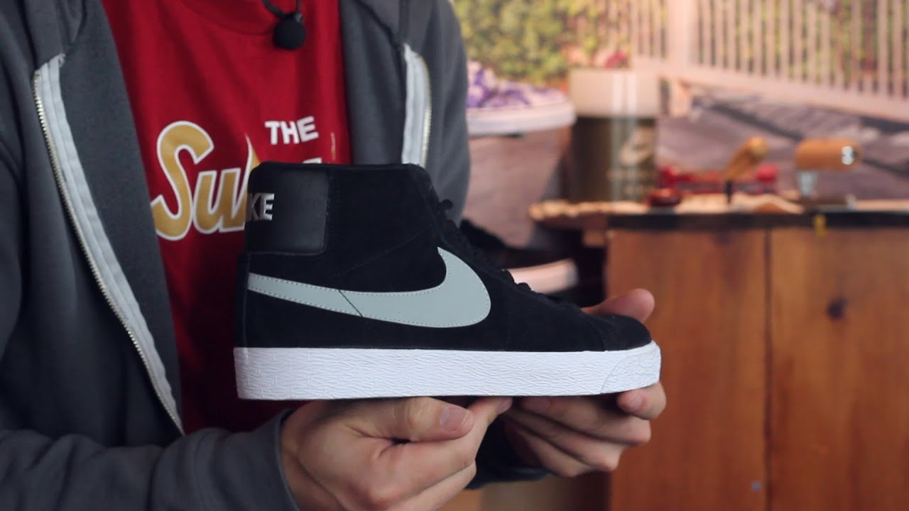 947e4edc1c41 Nike SB Blazer SB Premium SE Skate Shoes Review - Tactics.com - YouTube
