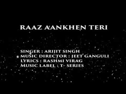 RAAZ AANKHEN TERI Lyrics Video Song | Raaz...
