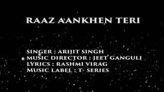 RAAZ AANKHEN TERI Lyrics Video Song | Raaz Reboot | Emraan Hashmi, Kriti Kharbanda, Gaurav Arora