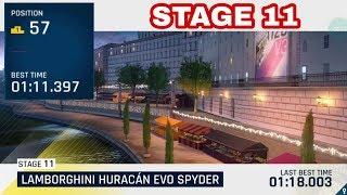 Asphalt 9 - HURACAN SPYDER - STAGE 11 - TOP-100