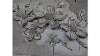 Flower relief terracotta