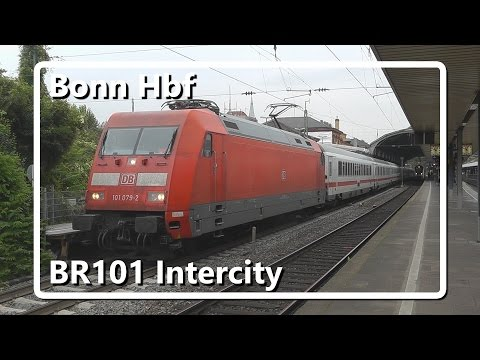 BR101 met intercity vertrekt van station Bonn Hbf!