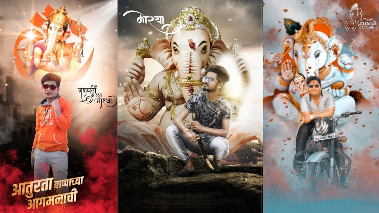 Ganesh Chaturthi Special Photo Editing In Picsart Ganpati Photo Editing Ganesh Photo Kr Youtube
