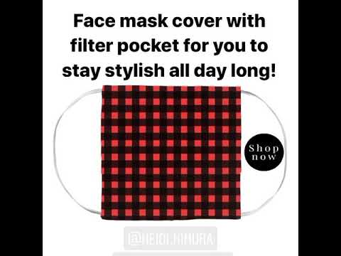 fashionable-buffalo-plaid-face-mask-covers-with-filter-pockets