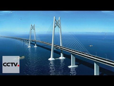 le plus long pont maritime du monde youtube. Black Bedroom Furniture Sets. Home Design Ideas