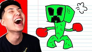 REACTING TO TERRIBLE MINECRAFT DRAWINGS! *FUNNY*