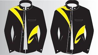 Corel Draw Tutorials #2 - Cara Membuat Desain Baju Jaket di CorelDRAW X7