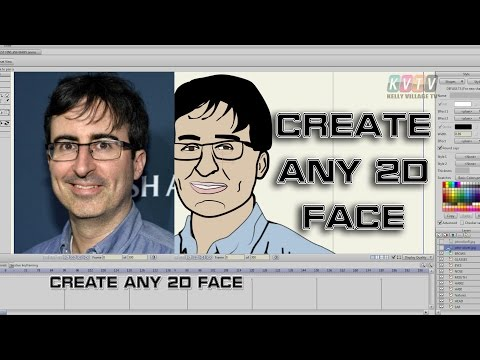 Create any celebrity's face & head turn in Anime Studio or other 2D software