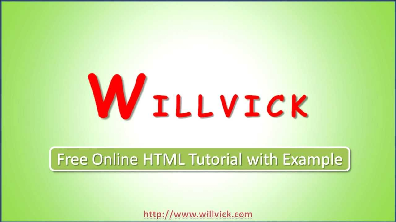 HTML Tutorial with examples