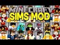 Minecraft SIMS MOD! |BUILD AND GROW FAMILIES, GET MARRIED, HAVE KIDS, & MORE! | Modded Mini-Game