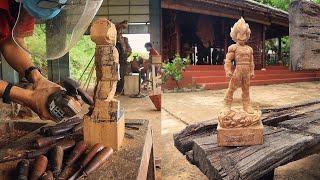 Đục Tượng Vegeta wood carving - Dragon ball heroes - Nghệ Nhân Âu Lạc 13