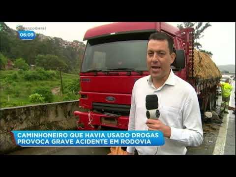 Caminhoneiro drogado provoca pânico na rodovia Anhanguera (SP)