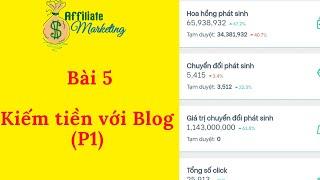 Kiếm tiền tiếp thị liên kết với Blog - Tạo blog kiếm tiền Affiliate Marketing