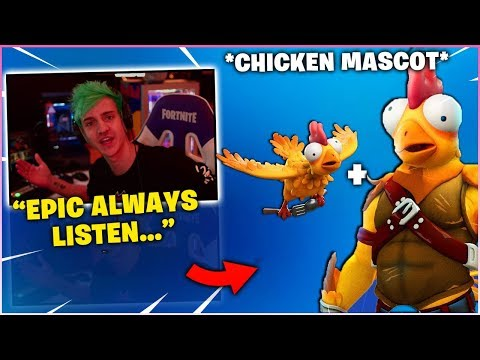 NINJA Reacts To *NEW* Chicken Skin & Talks About EPIC Doing What The Community Ask For!