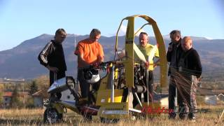 Experimental  first flight PPG with wankel engine  (powered paraglider)
