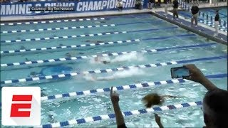 Caeleb Dressel swims 50 free in 17.81 seconds at NCAA championships, breaking prelims record | ESPN