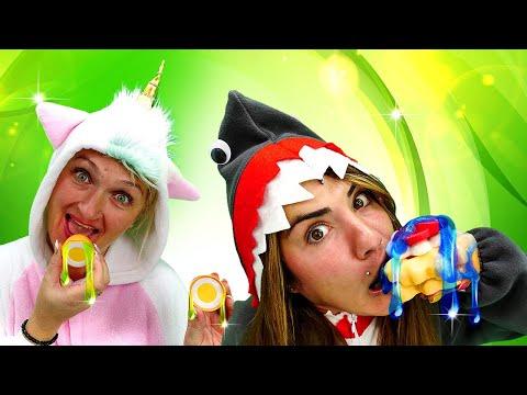 Смешное видео онлайн – Готовим вкусняшки со слаймом! - Игры для девочек одевалки