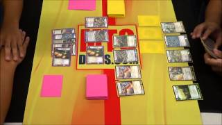 Kaijudo KMC San Gabriel @MTG Deals 8/23/14 Finals LDN midrange vs LDN midrange