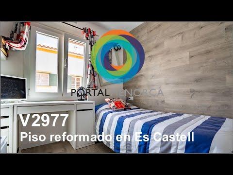 Piso reformado, 3 dormitorios y 2 baños. Es Castell, Menorca