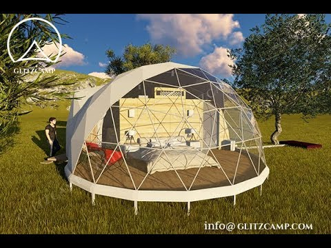 Glitzcamp ecoliving dome for forest resort and campsite