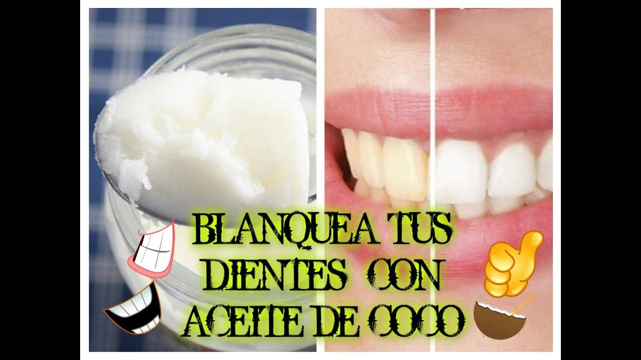 Como se usa el aceite de coco para los dientes