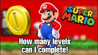 Super Mario Run! How many level's can I complete!