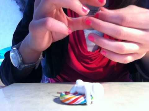 tuto fimo lapin sur lollipop