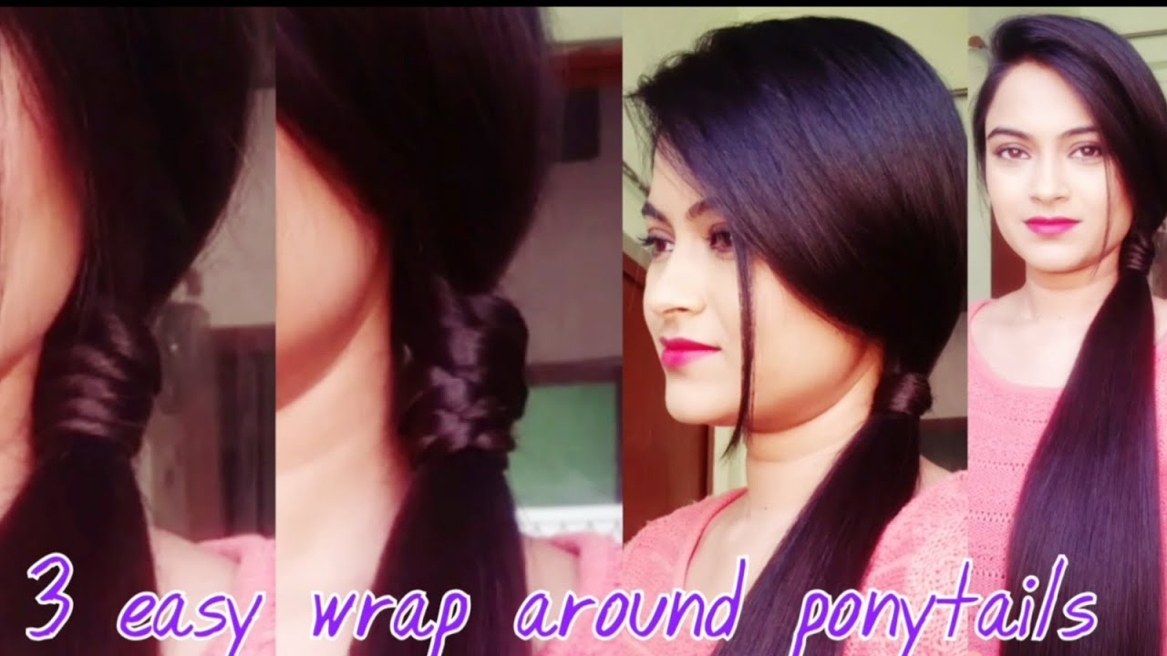 Simple Hairstyles For College 3 Easy Wrap Around Ponytail Hairstyles For Medium To Long Hair For