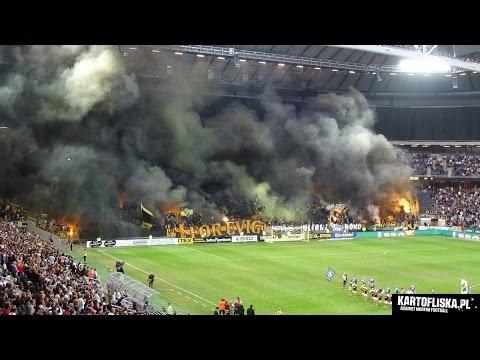 Ultras report: Stockholm Derby AIK - Djurgarden in 2 minutes! (13.08.2014)