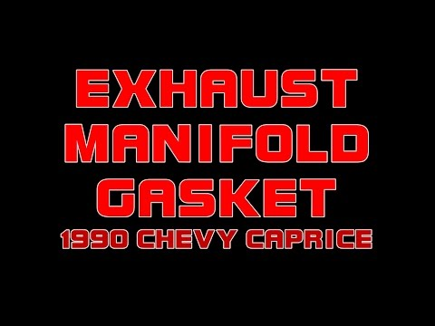 ⭐ 1990 Chevy Caprice - Replacing The Left Side Exhaust Manifold Gasket