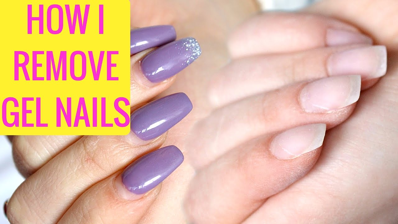 HOW I REMOVE GEL NAILS AT HOME ! - YouTube