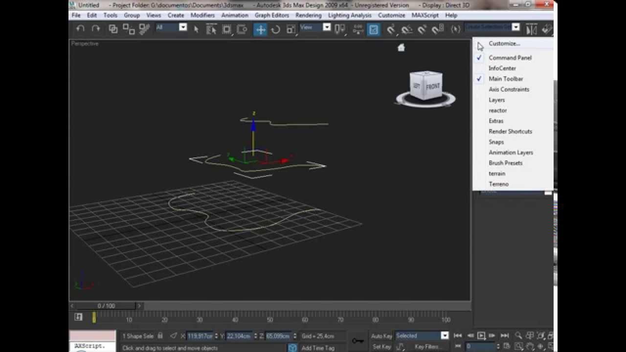 3d studio max tutorial como hacer un terreno en 3d max