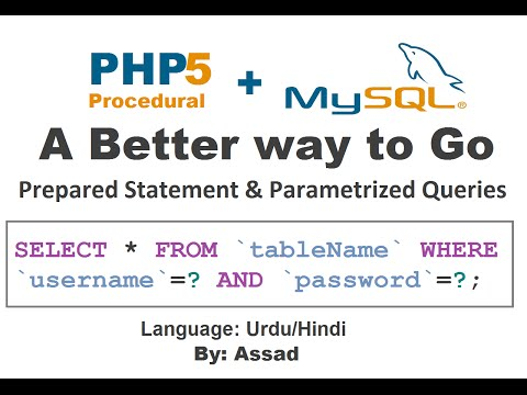 PHP Prepared Statement & Parameterized Query MySQL (Urdu/Hindi)