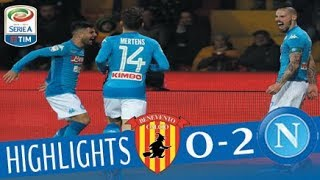 Benevento - Napoli 0-2 - Highlights - Giornata 23 - Serie A TIM 2017/18 streaming