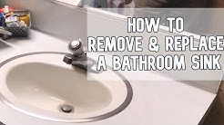 How to remove and replace a bathroom sink DIY video | #diy #sink