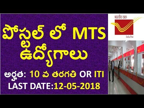 AP Postal Mts 2018 Notification Details In Telugu | 10th qualification jobs