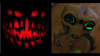 Spooky Halloween Gadgets - RC LED Carved Pumpkin and Alien Spider Robot