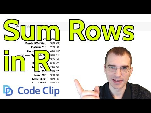 Get the Sum of Each Row in R