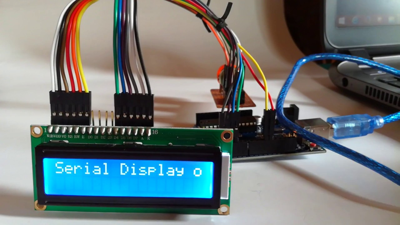 Test run arduino uno lcd scroll text both line